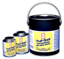 Picture for category <p><strong>TUF-SET™</strong> is a high-performance HVAC blue pipe-thread sealant. It has a smooth consistency for easy application, and is formulated for fast drying to ensure quicker sealing time. <strong>Tuf-Set</strong> stays flexible to resist vibrations and thermal expansions or contractions, has no PTFE, no heavy metals such as lead or cadmium, and can be used on all metal and most plastic pipe connections. Not for oxygen use. For Blazemaster CPVC use our GTS Gold™.</p>