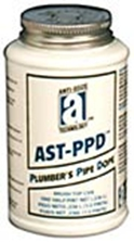 Picture for category <p><strong>AST-PPD™</strong> is a smooth, grit-free, gray-colored pipe joint compound. It seals threaded joints and will not crack or crumble. Made for easy disassembly. Contains no lead and is safe for all water systems.</p> <p><strong>Features and Benefits:</strong></p> <ul> <li>Sets soft non-hardening</li> <li>Contains non-toxic, inert oils and carbonate</li> <li>No lead, no silicone</li> <li>Brushable to -15°F (-26°C)</li> </ul> <p><strong>Temperature/Pressure Ranges:</strong> Liquid and Gasses: -15°F to 400°F (-26° to 204°C), up to 2000 psi (liquid), up to 1000 psi (gas)</p> <p></p>