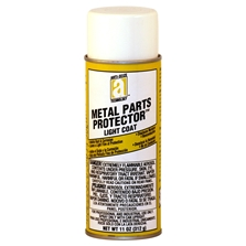 Picture for category <p><strong>METAL PARTS PROTECTOR™</strong> is a light coat rust and corrosion preventative providing long-term protection for all metal and alloy surfaces for up to 24 months. It leaves a dry, waxy film that adheres firmly and will not flake. This material is self-healing where film is broken.</p> <p><strong>Features and Benefits:</strong></p> <ul> <li>Protects steel parts indoors for up to 2 years</li> <li>Penetrates to displace moisture, prevents rust and corrosion</li> <li>Safe on most surfaces</li> <li>Does not contain chlorinated solvents or silicone</li> </ul> <p><strong>Temperature Range: </strong> Resists flow up to 175°F (80°C)</p> <p><strong>Applications:</strong> Bare metal, battery terminals, cables and chains, forklifts, tractors, hoists and draglines, metal Bare metal, battery terminals, cables and chains, forklifts, tractors, pulleys, hoists and draglines, elevators metal parts, machinery in storage, offshore drilling equipment, outdoor equipment, electrical connections, tools, dies, stampings, vehicle doors, and more.</p> <p><strong>**All aerosol products must be Ground Shipped by UPS.</strong></p>