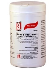 Picture for category <p><strong>HAND & TOOL WIPES</strong> are a waterless cleaner that cut through tar, grease, wax, ink, paint, lubricants, and adhesives. Towels are industrial strength but also gentle-fortified with an emollient and natural oils so they won't crack or dry hands, with a light citrus scent. The ideal alternative to soap, water and dry rags, and they won't leave a residue. The most powerful and versatile wipes available.</p> <p><strong>Features and Benefits:</strong></p> <ul> <li>Extremely versatile</li> <li>Waterless</li> <li>Light citrus scent</li> <li>Wipes up oily spills</li> <li>Loosens and dissolves tough grime</li> <li>Won't crack or dry hands</li> <li>Cleans tools and equipment</li> <li>NSF - C1</li> </ul> <p><strong>Applications:</strong> Painters, cement masons, commercial fisherman, car & truck dealers, motorcycle shops, long-haul truckers, manufacturing plants, airports, rental companies, mechanics, plumbers, schools, landscapers, industrial plants, utility companies, agriculture / farmers, welders, florists.</p>