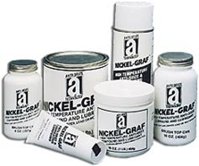 Picture for category <p><strong>Nickel-Graf™</strong> is a premium anti-seize lubricant designed to perform in extreme service conditions including extreme temperature and corrosion environments. Withstands temperatures of 2600°F (1426°C). <strong>Nickel-Graf</strong> is composed of pure colloidal nickel and graphite flakes dispensed in a superior petroleum carrier. <strong>Nickel-Graf</strong> does not contain any copper, lead, or molybdenum disulfide, and will not poison catalyst beds, reaction chambers, or special alloy fittings. Can be used with anhydrous ammonia, acetylene, and other vinyl monomers. Meets the performance requirements of MIL-PRF-907F specifications.</p>
