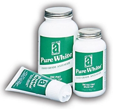 Picture for category <p><strong>Pure White™</strong> is a premium food-grade lubricant fortified with PTFE. It is odorless with exceptional water resistance and lubricating properties. Specially designed for the strict conditions found in the Food/Beverage and Drug/Cosmetic industries. <strong>Pure White</strong> has anti-rust and anti-corrosion properties vital to protect equipment from harmful attack of corrosive acids found in food substances.</p>