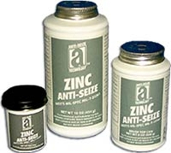 45008, ZINC ANTI-SEIZE - 8 oz Brush Top