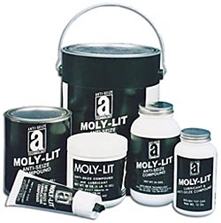 Picture for category <p><strong>Moly-Lit™</strong> is an extra heavy-duty, extreme-pressure, low-friction lubricant. It offers high concentrations of molybdenum disulfide, graphite, and other anti-wear solids in a high-performance carrier. Use it to protect valuable parts and equipment to temperatures up to 2400°F (1315°C). Meets the performance requirements of MIL-PRF-907F specifications.</p> <p><strong>Moly-Lit™</strong> anti-seize compound delivers minimum torque requirements and lubricates under extreme heavy loads. Recommended for threads, pipes, valves, and equipment carrying ethylene, acetylene, and other services where copper contamination must be avoided.</p> <p><strong>Features and Benefits:</strong></p> <ul> <li>No copper or aluminum</li> <li>Long-term protection against rust and corrosion</li> <li>Reduces friction on all metal surfaces</li> <li>Protects load bearing surfaces during critical wear-in</li> </ul>