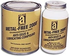 Picture for category <p><strong>Metal-Free 2000™</strong> is a non-metallic, heavy-duly, anti-seize lubricating compound. It offers extreme-pressure additives, water-resistant properties, and rust and corrosion inhibitors in a high-performance carrier. Protects to 2400°F (1315°C). Used in all industries where corrosion, extreme heat, and pressure are major factors. Exceeds MIL-PRF-907F specifications.</p> <p><strong>Features and Benefits:</strong></p> <ul> <li>Environmentally safe, lead free</li> <li>Withstands extreme pressure conditions</li> <li>No hazardous ingredient per OSHA 29, CFR 1910.1200</li> <li>Lowers friction and reduces torque</li> <li>Compatible with stainless steel and nickel alloys.</li> </ul>