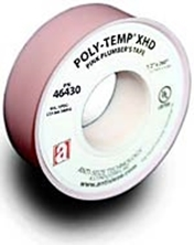 Picture for category <p><strong>POLY-TEMP® PNK</strong> Pink Plumber's PTFE Tape is a Full Density PTFE Thread Seal Tape especially designed for professional plumbers. The pink color distinguishes itself from low-grades of PTFE tapes. Suitable for demanding industrial and commercial plumbing applications. Strong and durable with positive sealing for tough applications. Recommended for galvanized pipe, copper, brass, chrome, or other plated pipe. UL Recognized Component Poly-Temp® Thread Seal Tapes are 100% PTFE from the highest quality resins available. This universal thread sealant can be used on all types of metal or plastic pipe connections and effectively seal a vast array of chemicals. Suitable for oxygen systems.</p> <p><strong>Features and Benefits:</strong></p> <ul> <li>Thread sealant for all services</li> <li>Lubricates threads for easy assembly</li> <li>Chemically inert, non-toxic</li> <li>Not flimsy like economy tapes</li> <li>Easy to apply and handle</li> <li>Made with resins compliant with FDA 21 CFR 177.1550</li> <li>Meets MIL 277a C.I.D. a-a 58092</li> <li>More durable and more PTFE for positive sealing</li> <li>Temperatures from -400° to 550°F (-240° to 287°C)</li> <li>Pressures up to 10000 psi</li> </ul> <p> </p> <p><em><strong>POLY-TEMP®</strong> is a registered trademark of Anti-Seize Technology.</em></p>