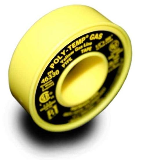 "46340, POLY-TEMP® GAS Yellow Gas Line PTFE Tape - 1/2"" x 1296"""
