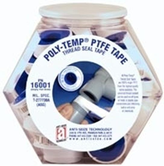 """46430A, POLY-TEMP® PNK Pink Plumbers PTFE Tape 1/2"""" x 260"""" - POP Fish Bowl"""